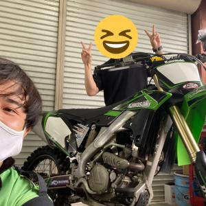 【KX250F】安心+乗り易いマシン作り【長野県kawasakiバイク屋】
