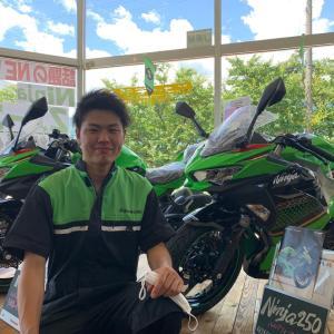 【新人竹下です!】よろしくお願いします【長野県kawasakiバイク屋】
