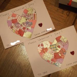 【子育て】1歳と作るバレンタインカードと男性陣へのギフト