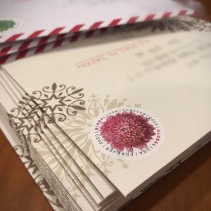 アメリカから日本へクリスマスカードを送る