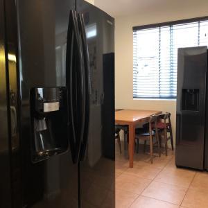 巨大冷蔵庫が2つあるカオスな状況