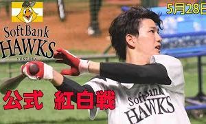 【ハイライト】 ホークス公式紅白戦5月28日|上林3安打、栗原2ラン、九鬼2安打&ソロ