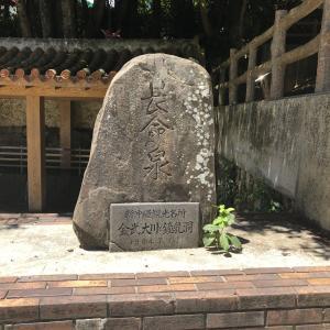 1日の湧水が1000tを誇る 長命の泉の金武大川