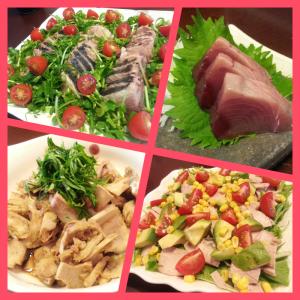 夏の鰹(カツオ)をサッパリ楽しむ!たたき&刺身&湯煮サラダ&煮物!