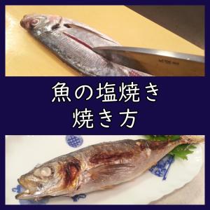 スーパーの魚で塩焼き!臭み無しで美味しく、見栄えの良い焼き方。(アジ)