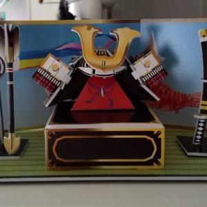 我が家の子どもの日 ☆ 100円均一ダイソーの商品でお部屋を飾りつけお祝い 兜・鯉のぼり・料理