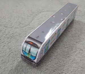 子どもが喜ぶ電車のおもちゃを簡単・綺麗に手作り ☆ 西武鉄道の電車の ペーパークラフト