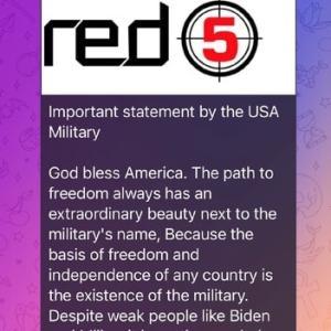 アメリカ軍「我々は、米国に忠誠を誓い、トランプに忠誠を誓う兵士の集団であり、まもなく起こるクーデターの責任を取る。」