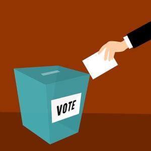 市議会議員選挙のはがきが来た