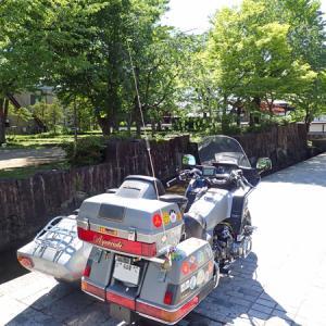 GL1200サイドカー 24 飛騨古川 新穂高温泉 ワイドビューひだ