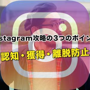 Instagram(インスタグラム )攻略の3つのポイント