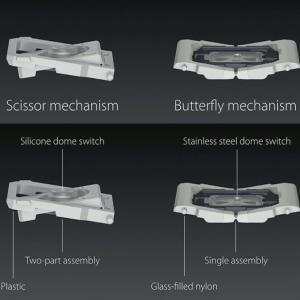 Apple MacBook バタフライキーボード(1世代・2世代)修理 クリップの取り外し・取り付け-クリップの購入も可能