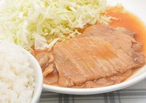 7/13晩 豚ロース生姜焼き、を食べてみました。