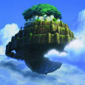 """天空の城ラピュタを目指して。""""天空""""には、船に乗り海を渡って行くのだというお話。"""