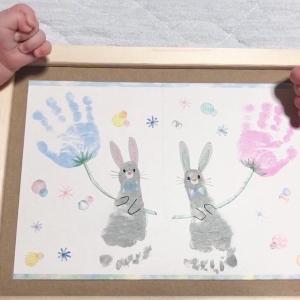【手形・足形アート/赤ちゃん】絵の具?それともスタンプ?実際に作ってみた!