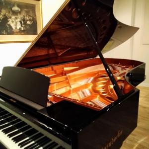 べ―ゼンドルファを弾きに、、。
