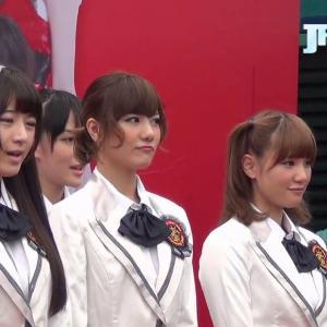 SNH48「星夢劇院」開業セレモニーの宮澤佐江、鈴木まりや 2013-8-30