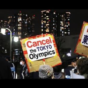 東京五輪の中止訴え行進