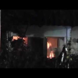 岐阜の心霊スポット(通称UCC)喫茶店の廃墟が深夜に全焼