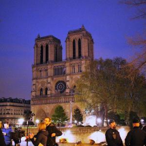 【ノートルダムの火災】一夜明けたパリのノートルダム寺院から