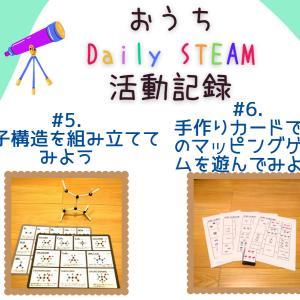 【おうちDaily STEAM教育記録#5#6】分子構造を組み立ててみよう& 手作りカードで数のマッピングゲームを遊んでみよう
