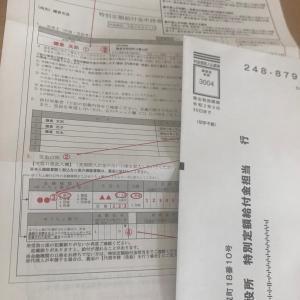 特別定額給付金の申請書が届きました
