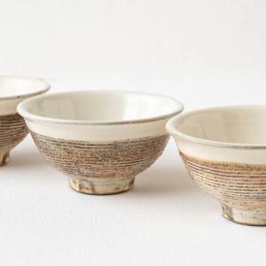 渕荒横彫のうつわとカップ (古谷製陶所)