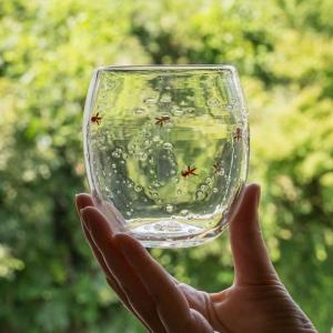 涼し気な金魚のグラス(極楽寺がらす工房)