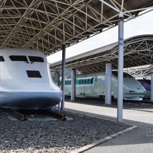 米原に集結した新幹線の試験車両