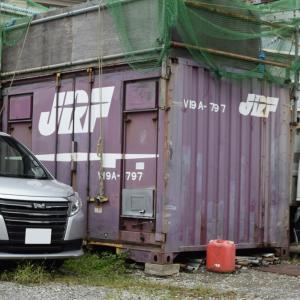 小田栄駅横にある廃コンテナ