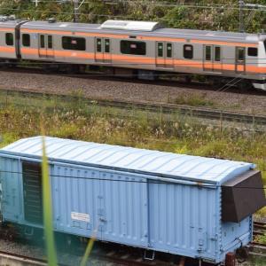 鉄道総研の試験装置になったワム80000