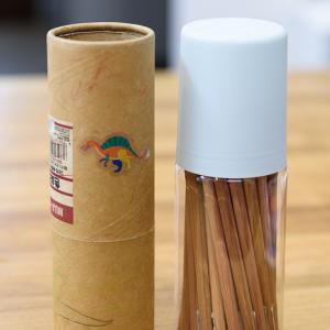セリアで発見!無印良品の色鉛筆のケースを交換した話