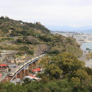 踊り子(185系)を石橋橋梁で撮影!🌉