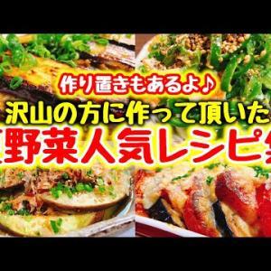 【永久保存版】簡単おいしい♪夏野菜を使った人気料理4品【こっタソレシピ集④】作り置きもあるよ♪