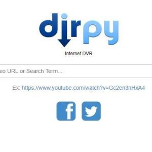 Youtubeから音楽や動画を形式を選択して保存できる「dirpy」の使い方