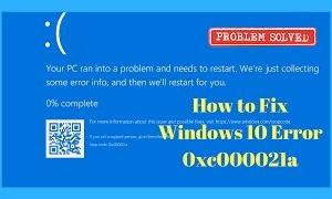 Windows10が起動しない!「STOP 0xC000021A エラー」の復旧方法