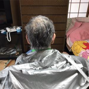 母の散髪&お風呂