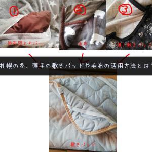 【自己流】冬の薄手敷きパッド・毛布の活用方法とは?