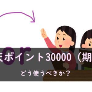 節約家は、楽天の約30000ポイント(期間限定)をどう使うべきか?
