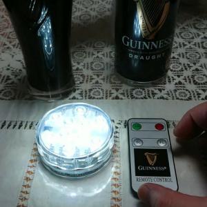 黒ビールのギネスのLEDコースターセットを購入してみました!