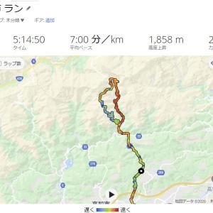45km・5時間14分・峠走。