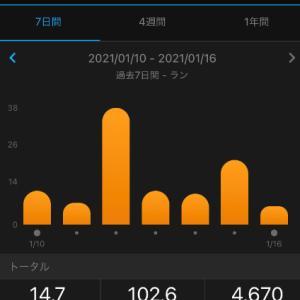 目標:DSLと10km走week、合計102.6㎞(2021.1.10~1.16)