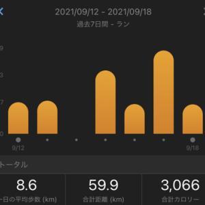 龍馬マラソン2022エントリーしました:合計59.9㎞(2021.9/12~9/18)