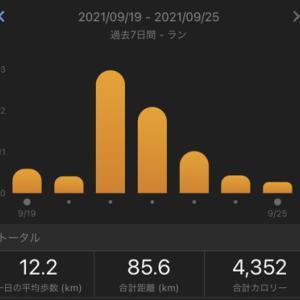 第2回ボッチフルマラソンまでの調整week!!:合計85.6㎞(2021.9/19~9/25)