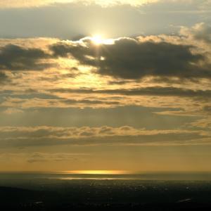 きご山からの夕日