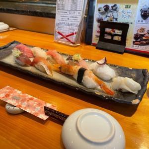 大乃寿司 南林間店 〜 駅からすぐ近くのコスパの良いお寿司屋さん【南林間】【寿司】 〜 ランチメニューの四季をいただく。旬のネタの寿司8貫、天ぷら、茶碗蒸し、お味噌汁、デザートと全部入り