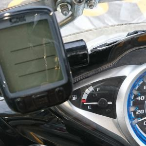 MotoDXスパークプラグ交換後の燃費測定。