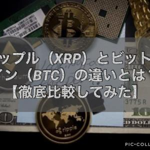 リップル(XRP)とビットコイン(BTC)の違いとは?【徹底比較してみた】