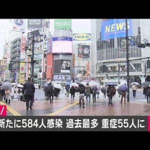 東京の新たな新型コロナ感染者は584人 過去最多(2020年12月5日)