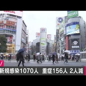 東京で新型コロナ感染者 きょう1070人(2021年1月23日)